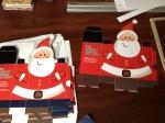 Troqueles de santa con motivo navideño